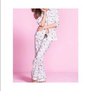 Victoria's Secret 2PC deer dreamer pajamas L